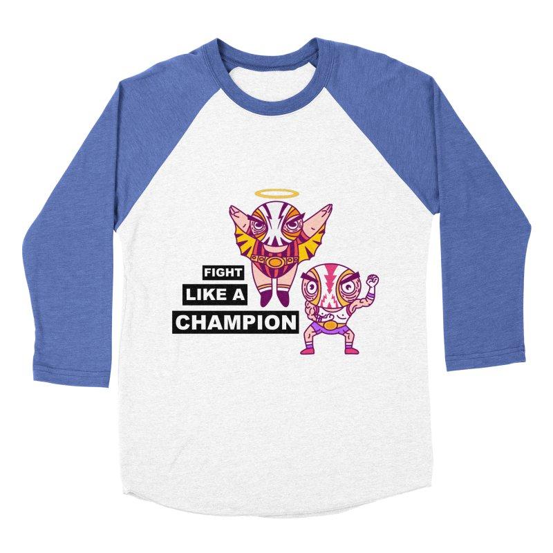 fight like a champion Women's Baseball Triblend Longsleeve T-Shirt by creativosindueno's Artist Shop