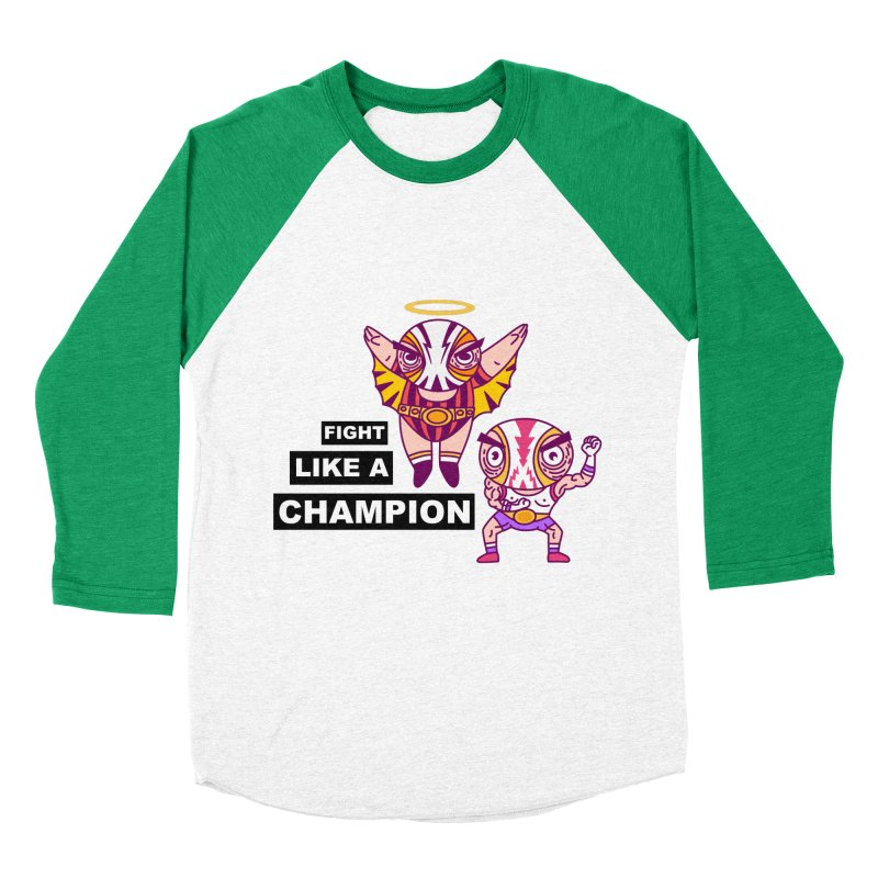 fight like a champion Women's Baseball Triblend Longsleeve T-Shirt by creativosindueno's Artist Shop