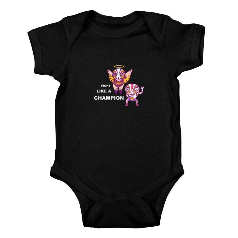 fight like a champion Kids Baby Bodysuit by creativosindueno's Artist Shop