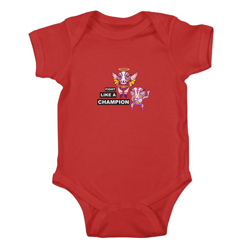 fight like a champion Kids Baby Bodysuit by creativosindueno's Artist Shop