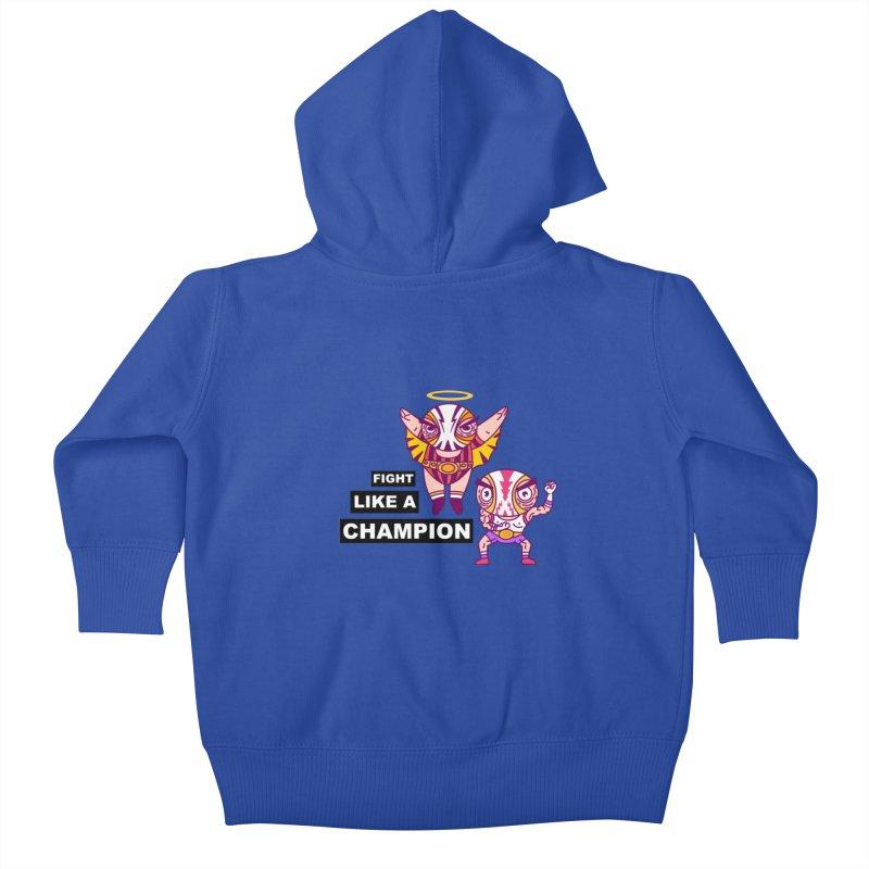fight like a champion Kids Baby Zip-Up Hoody by creativosindueno's Artist Shop