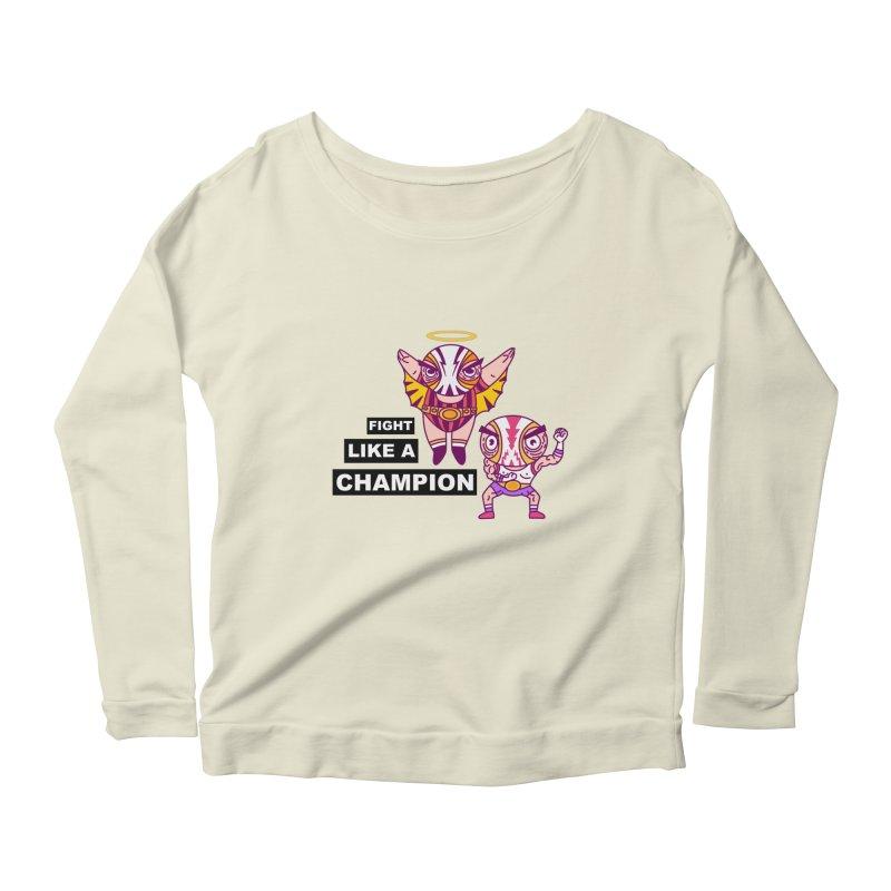 fight like a champion Women's Scoop Neck Longsleeve T-Shirt by creativosindueno's Artist Shop