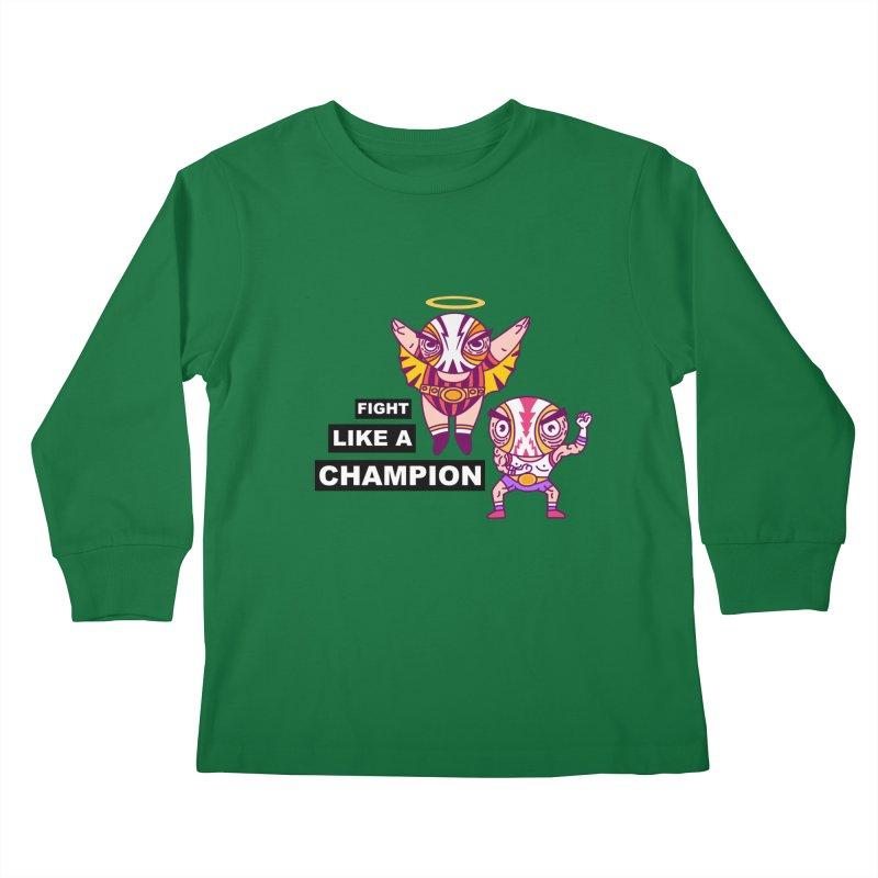 fight like a champion Kids Longsleeve T-Shirt by creativosindueno's Artist Shop