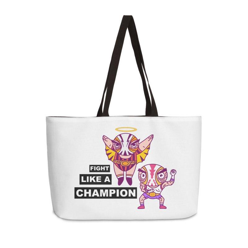 fight like a champion Accessories Weekender Bag Bag by creativosindueno's Artist Shop