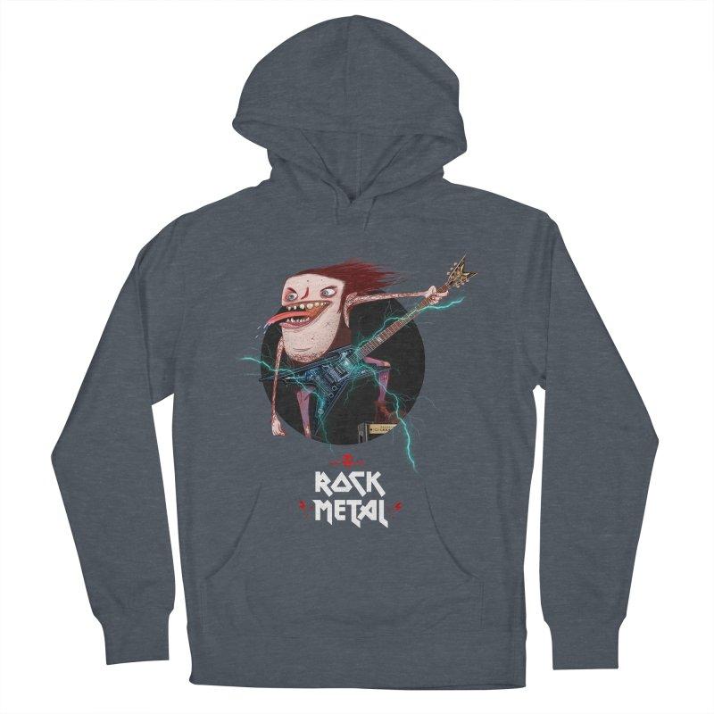 LiveMetalRock Tshirt Men's French Terry Pullover Hoody by creativosindueno's Artist Shop