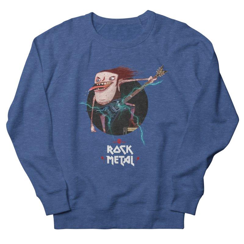 LiveMetalRock Tshirt Men's French Terry Sweatshirt by creativosindueno's Artist Shop