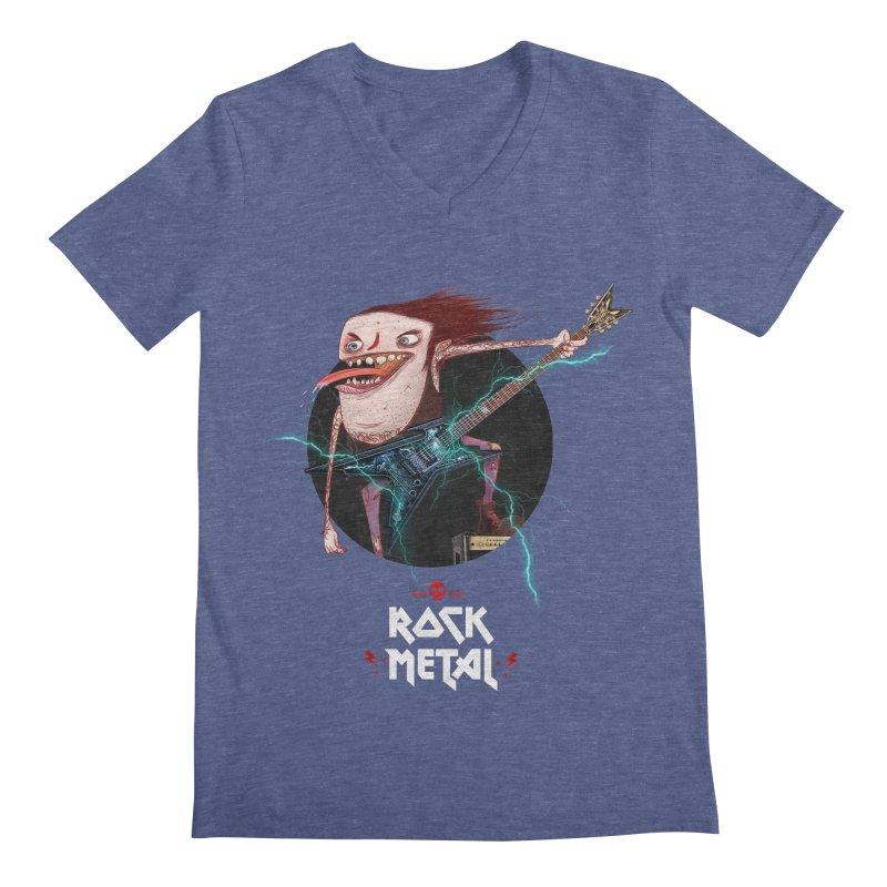 LiveMetalRock Tshirt Men's Regular V-Neck by creativosindueno's Artist Shop
