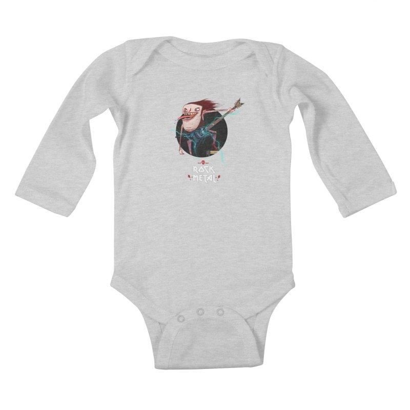 LiveMetalRock Tshirt Kids Baby Longsleeve Bodysuit by creativosindueno's Artist Shop