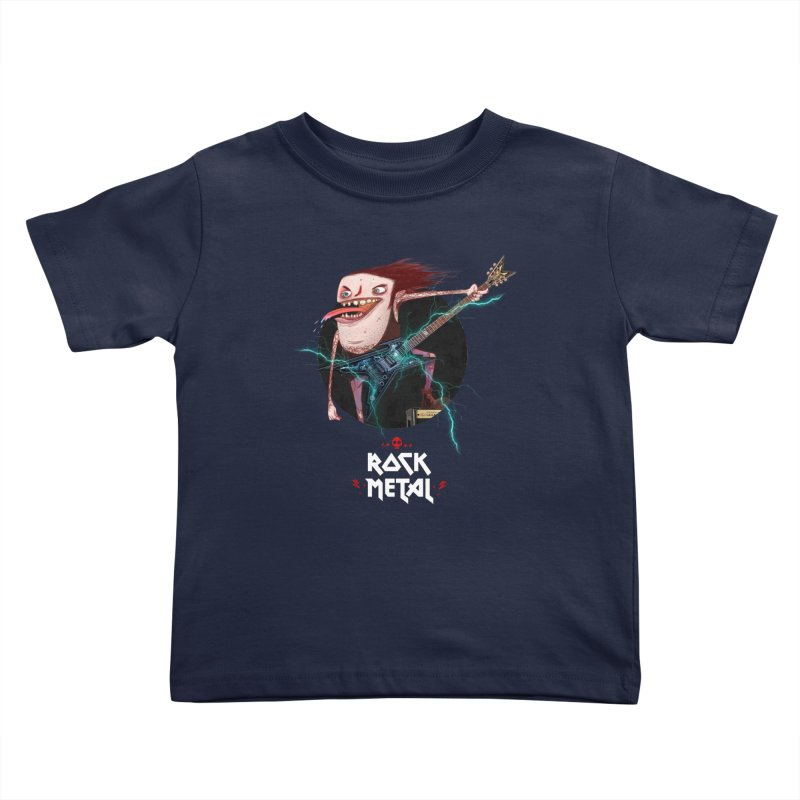 LiveMetalRock Tshirt Kids Toddler T-Shirt by creativosindueno's Artist Shop