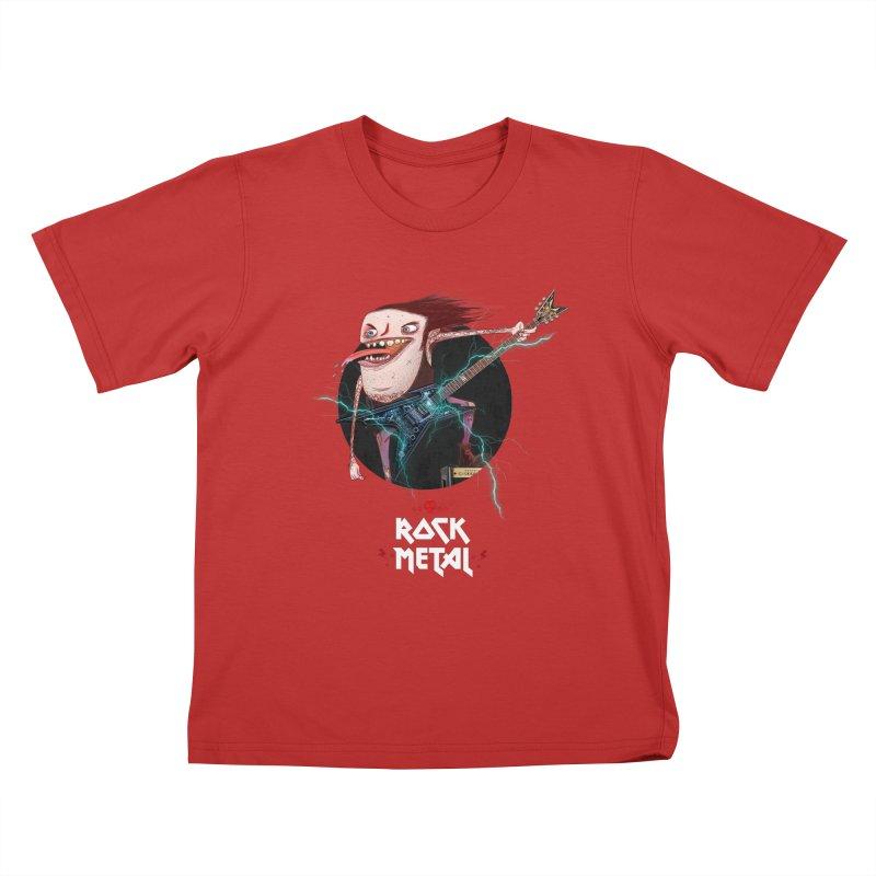 LiveMetalRock Tshirt Kids T-Shirt by creativosindueno's Artist Shop