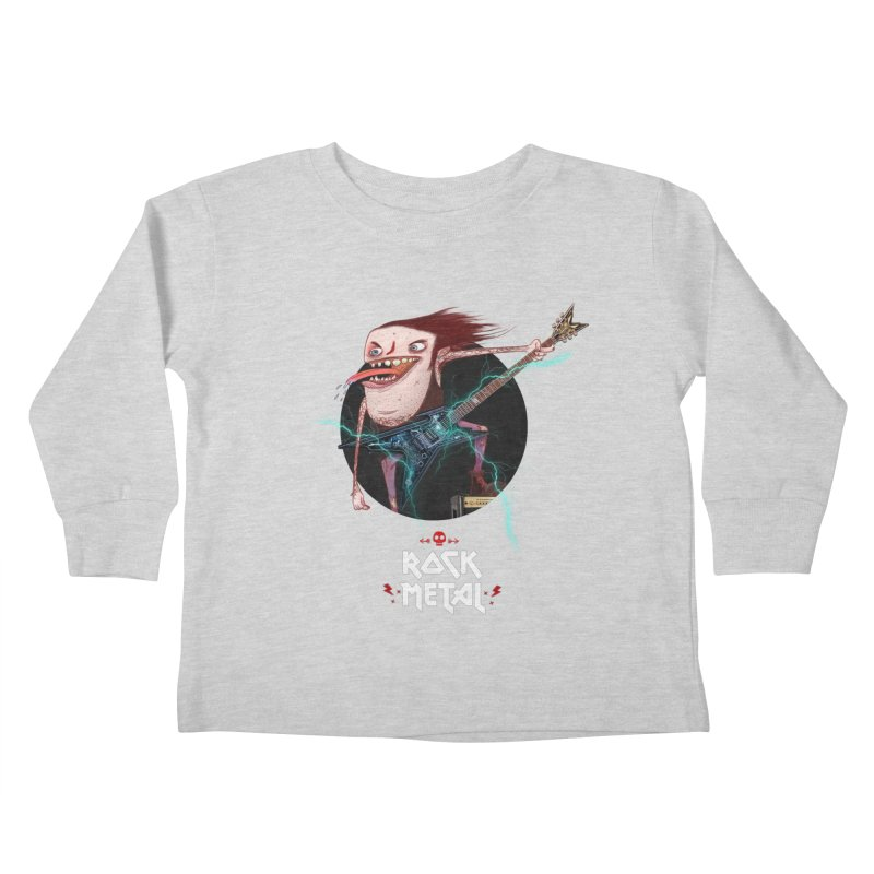 LiveMetalRock Tshirt Kids Toddler Longsleeve T-Shirt by creativosindueno's Artist Shop
