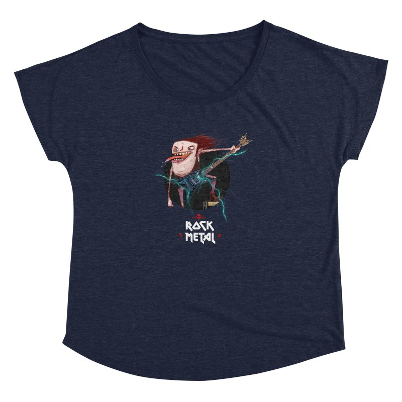 LiveMetalRock Tshirt Women's Dolman Scoop Neck by creativosindueno's Artist Shop