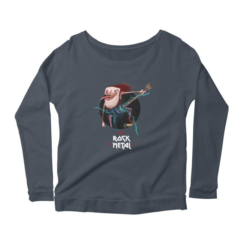 LiveMetalRock Tshirt Women's Scoop Neck Longsleeve T-Shirt by creativosindueno's Artist Shop
