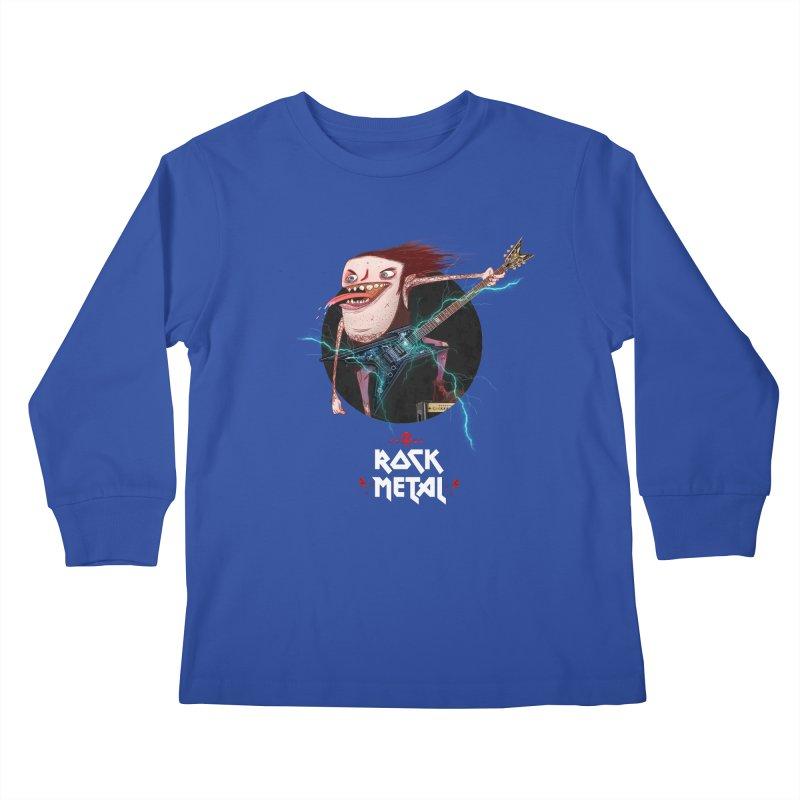 LiveMetalRock Tshirt Kids Longsleeve T-Shirt by creativosindueno's Artist Shop