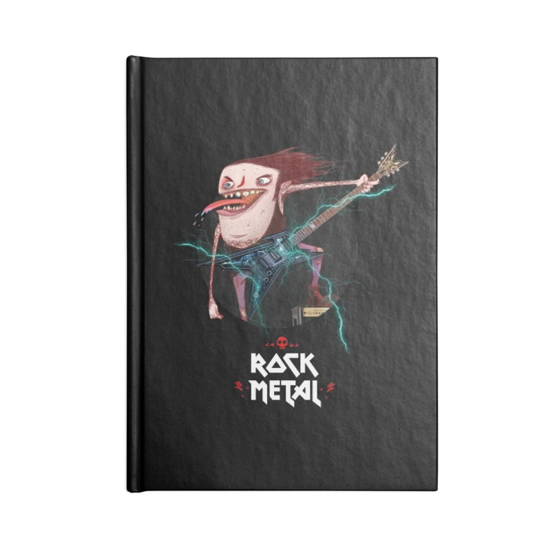 LiveMetalRock Tshirt Accessories Blank Journal Notebook by creativosindueno's Artist Shop
