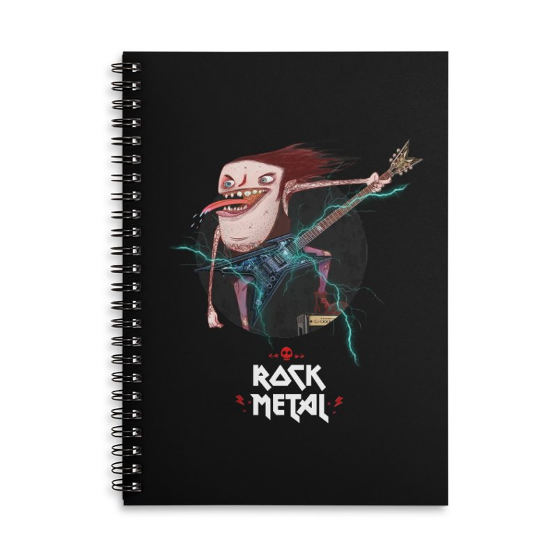LiveMetalRock Tshirt Accessories Notebook by creativosindueno's Artist Shop