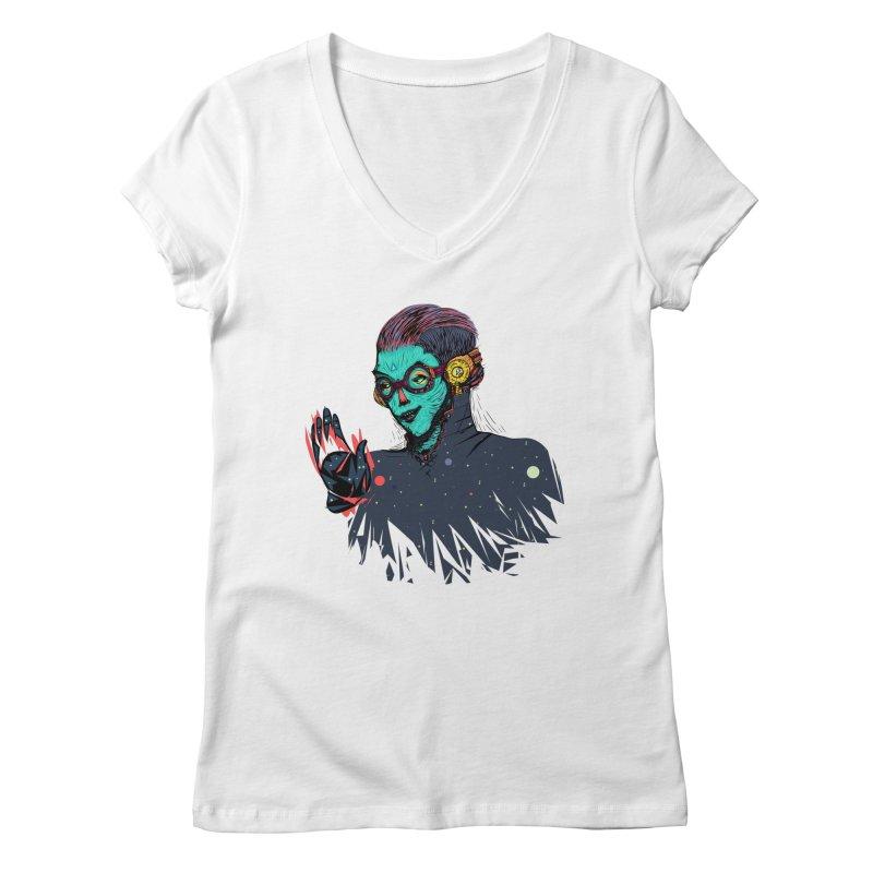 THE FUTUTTURE Tshirt Women's V-Neck by creativosindueno's Artist Shop