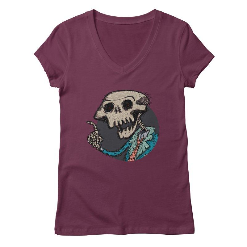 evangelist of death tshirt Women's Regular V-Neck by creativosindueno's Artist Shop