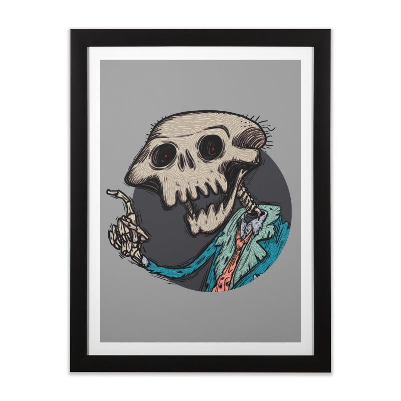 evangelist of death tshirt Home Framed Fine Art Print by creativosindueno's Artist Shop