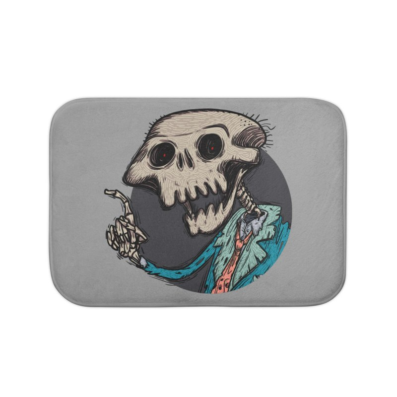 evangelist of death tshirt Home Bath Mat by creativosindueno's Artist Shop
