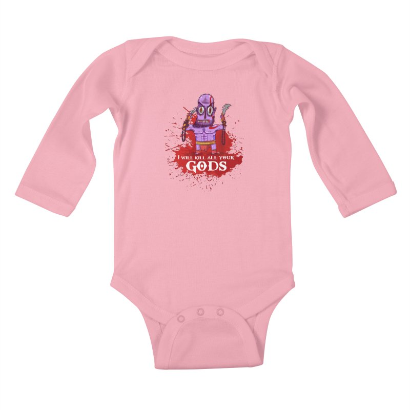 The fury of kratos tshirt Kids Baby Longsleeve Bodysuit by creativosindueno's Artist Shop