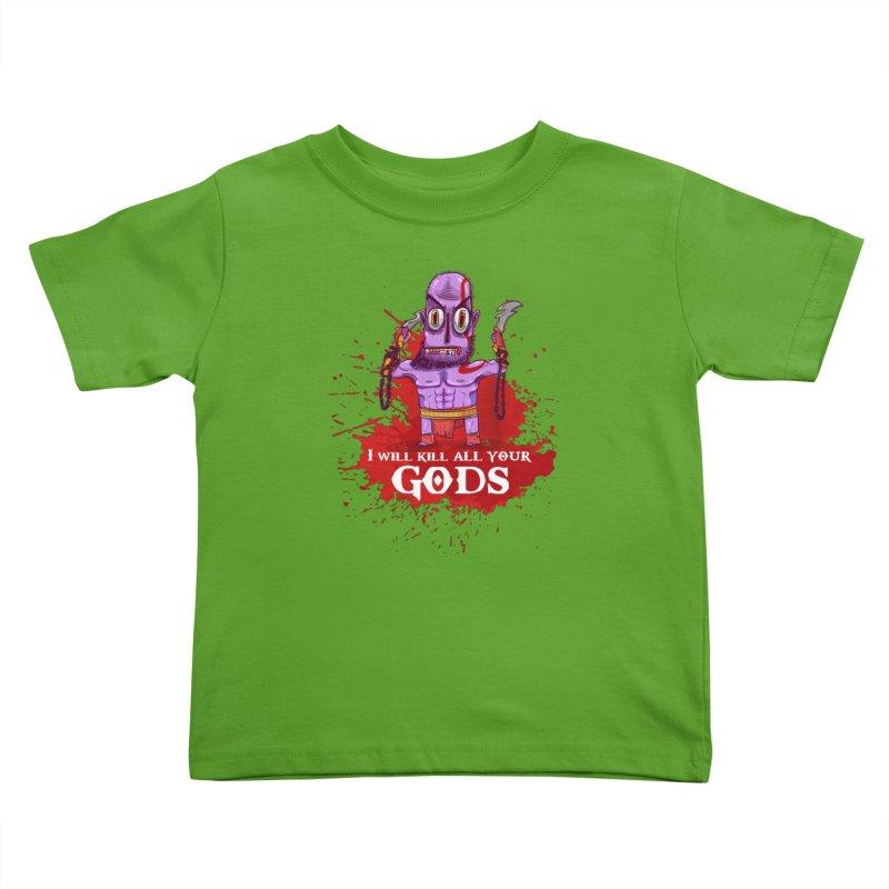 The fury of kratos tshirt Kids Toddler T-Shirt by creativosindueno's Artist Shop