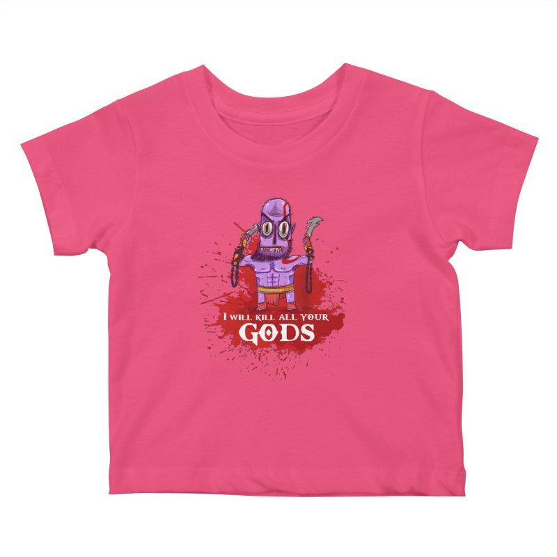 The fury of kratos tshirt Kids Baby T-Shirt by creativosindueno's Artist Shop
