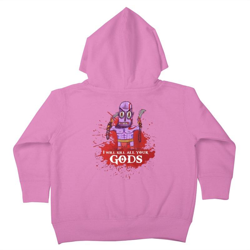 The fury of kratos tshirt Kids Toddler Zip-Up Hoody by creativosindueno's Artist Shop