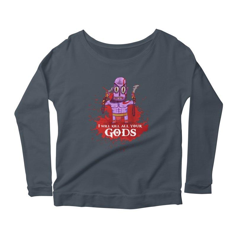 The fury of kratos tshirt Women's Longsleeve Scoopneck  by creativosindueno's Artist Shop
