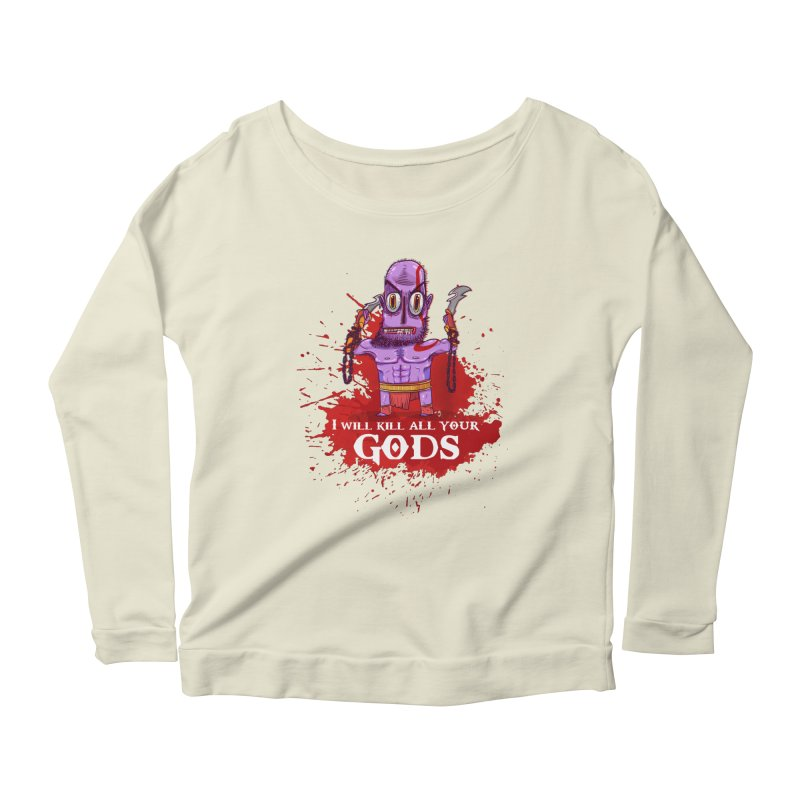 The fury of kratos tshirt Women's Scoop Neck Longsleeve T-Shirt by creativosindueno's Artist Shop