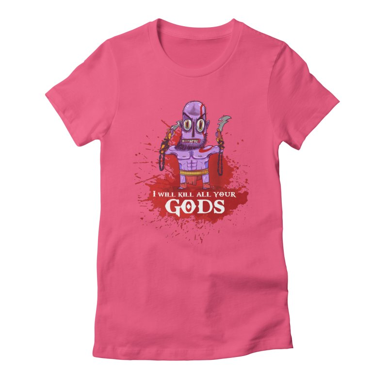 The fury of kratos tshirt Women's Fitted T-Shirt by creativosindueno's Artist Shop