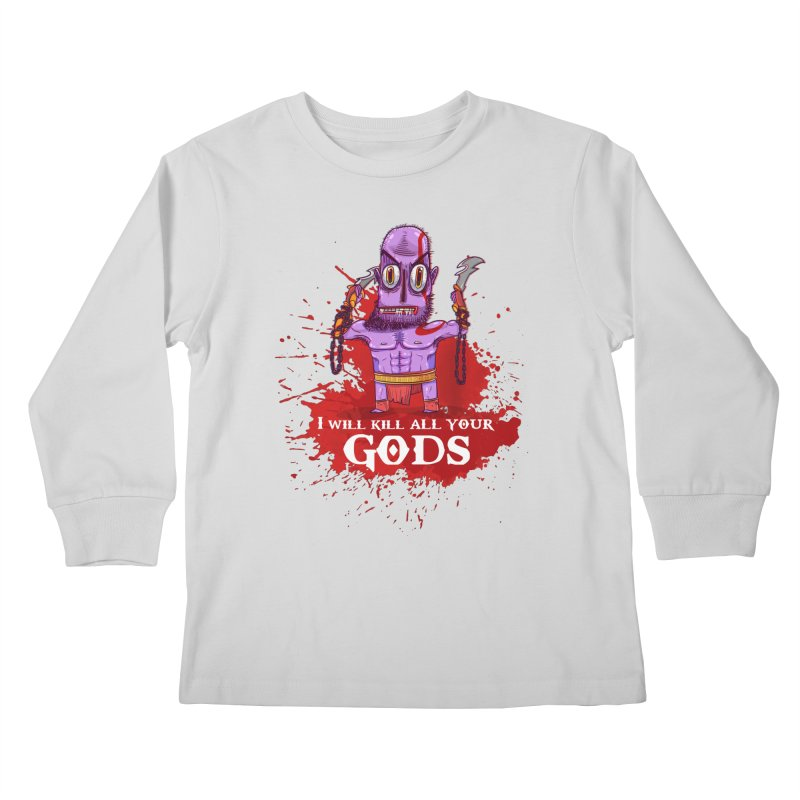 The fury of kratos tshirt Kids Longsleeve T-Shirt by creativosindueno's Artist Shop