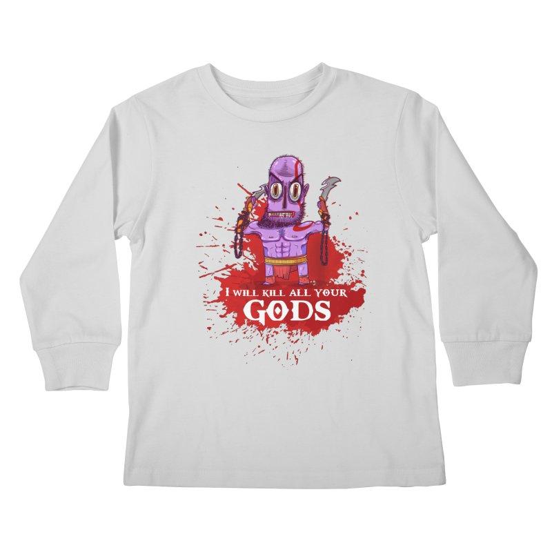 The fury of kratos tshirt Kids Longsleeve T-Shirt by creativosindueno's Artist Shop