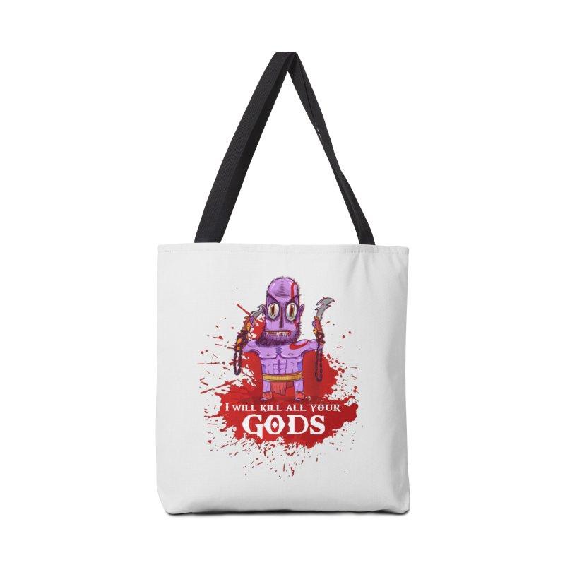 The fury of kratos tshirt Accessories Bag by creativosindueno's Artist Shop