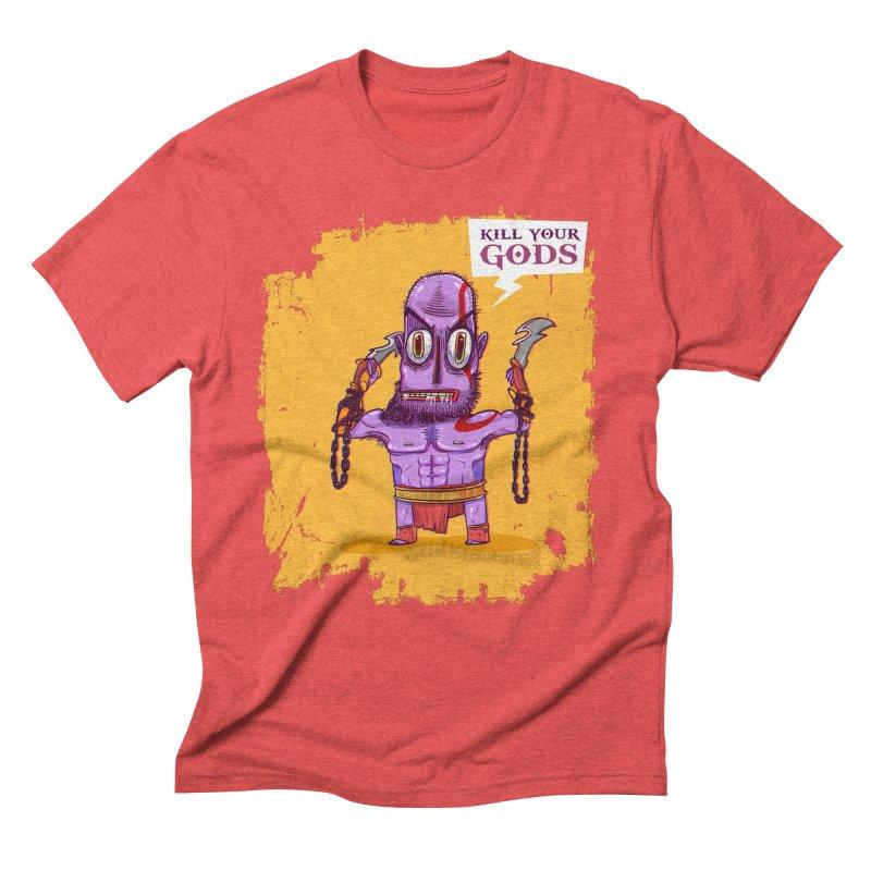kratos Men's Triblend T-shirt by creativosindueno's Artist Shop
