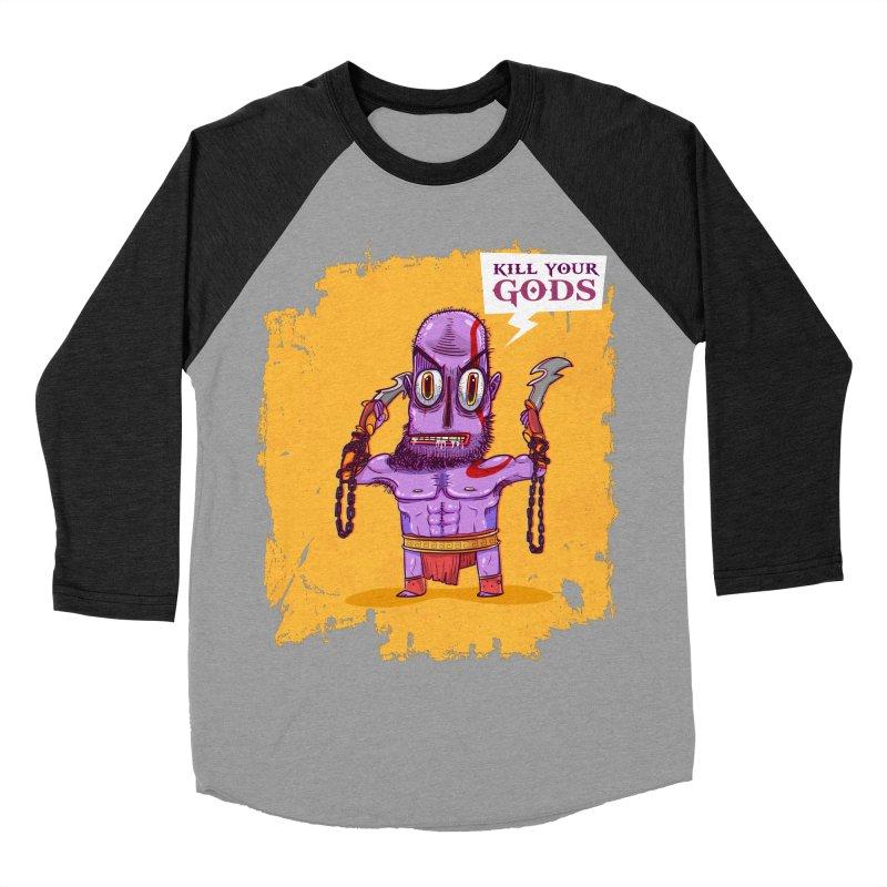 kratos Women's Baseball Triblend T-Shirt by creativosindueno's Artist Shop