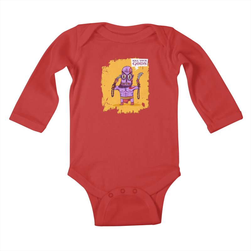 kratos Kids Baby Longsleeve Bodysuit by creativosindueno's Artist Shop