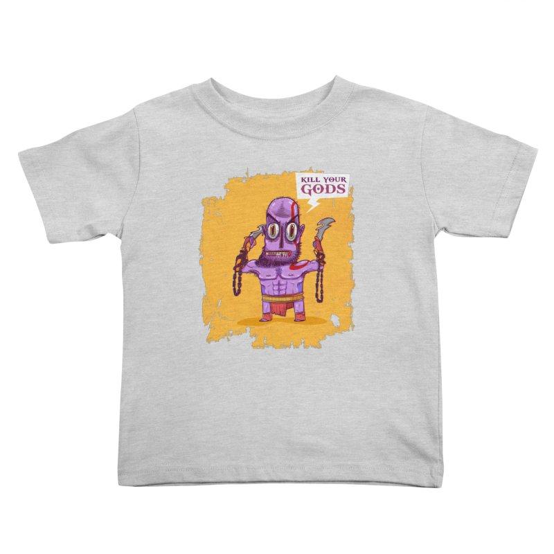 kratos Kids Toddler T-Shirt by creativosindueno's Artist Shop
