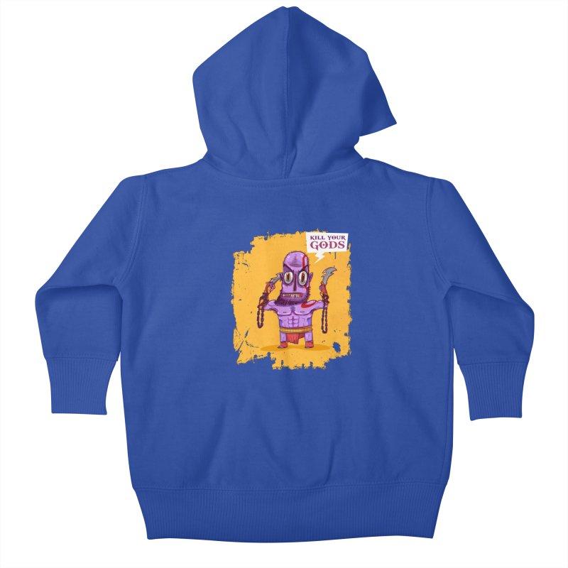 kratos Kids Baby Zip-Up Hoody by creativosindueno's Artist Shop