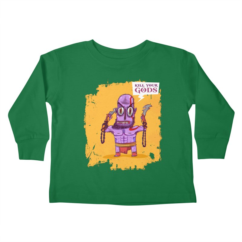 kratos Kids Toddler Longsleeve T-Shirt by creativosindueno's Artist Shop