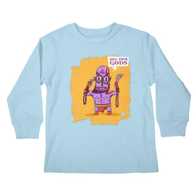 kratos Kids Longsleeve T-Shirt by creativosindueno's Artist Shop