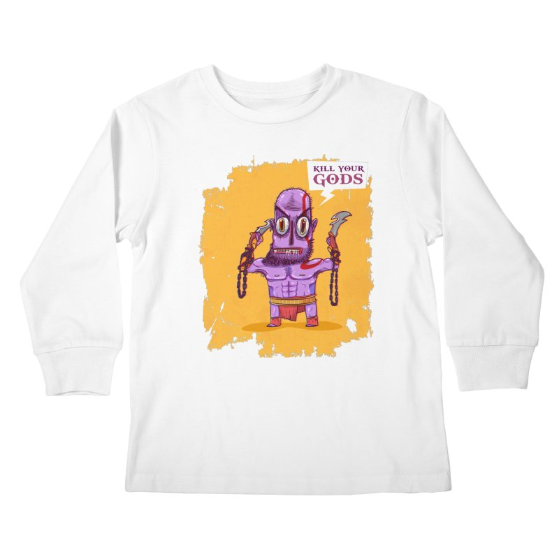 kratos Kids Longsleeve T-Shirt by creativosindueno's Artist Shop