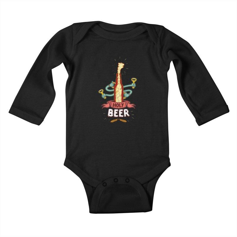 HolyBeer! Kids Baby Longsleeve Bodysuit by creativosindueno's Artist Shop