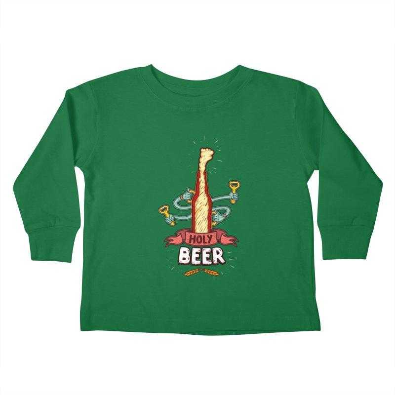 HolyBeer! Kids Toddler Longsleeve T-Shirt by creativosindueno's Artist Shop