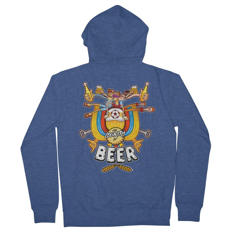 The Country of Beer! Women's Zip-Up Hoody by creativosindueno's Artist Shop