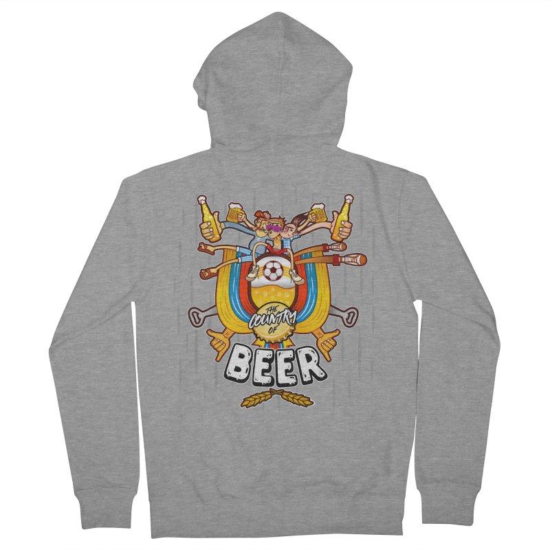 The Country of Beer! Women's Zip-Up Hoody by creativosindueno's Artist Shop