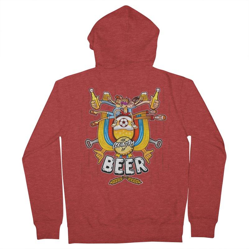 The Country of Beer! Men's Zip-Up Hoody by creativosindueno's Artist Shop