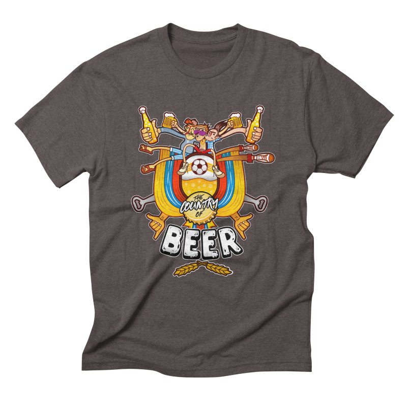 The Country of Beer! Men's Triblend T-shirt by creativosindueno's Artist Shop