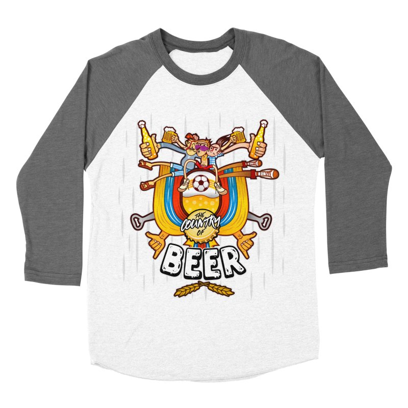 The Country of Beer! Men's Baseball Triblend T-Shirt by creativosindueno's Artist Shop