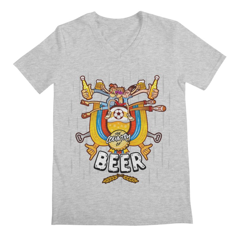 The Country of Beer! Men's V-Neck by creativosindueno's Artist Shop